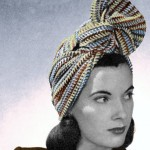1940s turban vintage striped